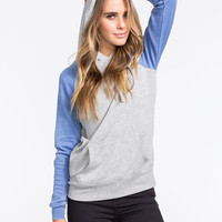 Full Tilt Essential Womens Color Block Hoodie Blue  In Sizes