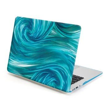 MacBook Air 13 Case, GMYLE Hard Case Print Frosted for MacBook Air 13 inch (Model: A1369 and A1466) - Iris Blue Ocean Pattern Rubber Coated Hard Shell Case Cover
