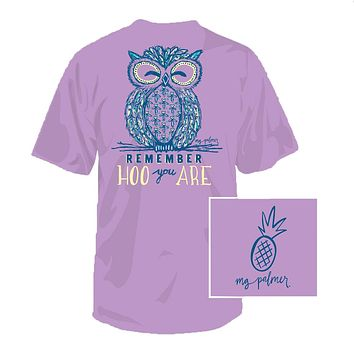 Hoo You Are Tee in Lavender by Southern Fried Cotton