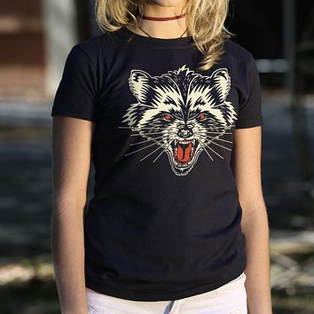 Raccoon Rage Women's T-Shirt