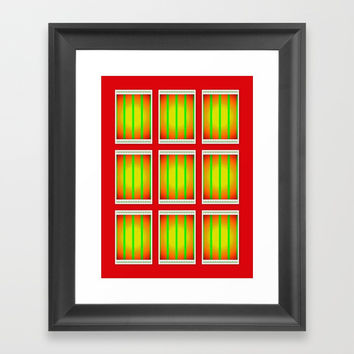 too hot outside Framed Art Print by  ART ELISA ELISA HOPP