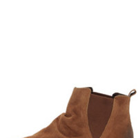 Coconuts Lee Tan Suede Ankle Boots