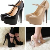 Zehui Sexy Vogue Women's Mary Jane Pumps Stiletto Platform Super High Heel Party Shoes Black 39