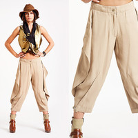 Stingray  summer pants/ Tapered leg  pants  / beige colour