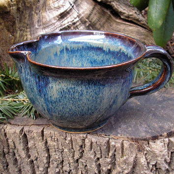 Pour Bowl 32 oz in Midnight Storm Glaze by meadowpoint on Etsy