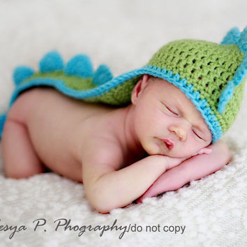 Pete's Magic Dragon Crochet Newborn Outfits Photography Props