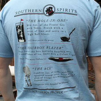 Southern Spirits Tee in Blue by Southern Proper