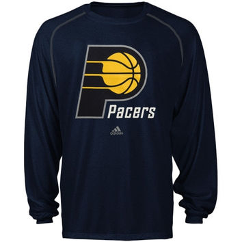 Indiana Pacers adidas Primary Logo ClimaLITE Long Sleeve T-Shirt – Navy Blue