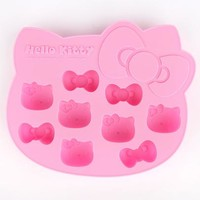 Hello Kitty Silicone Ice Tray: Face & Bow