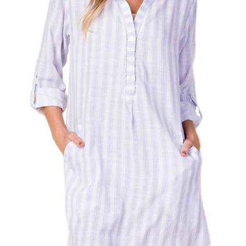 Kori Striped Tunic Dress/Coverup