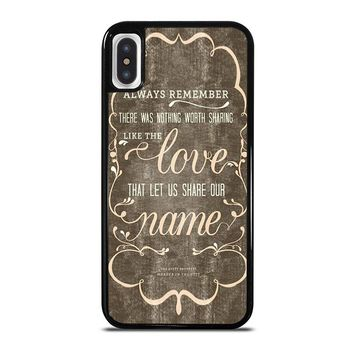 THE AVETT BROTHERS QUOTES iPhone X Case Cover
