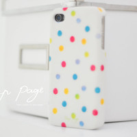 Apple iphone case for iphone iphone 5 iphone 4 iphone 4s iPhone 3Gs : Colorful polka dots