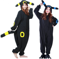 free pp Adult Anime Pokemon Cosplay Costume Black Pikachu Umbreon Onesuit Unisex Cartoon Pajamas Party For Female Male