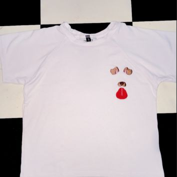 SWEET LORD O'MIGHTY! DOGGY CROP TEE IN WHITE
