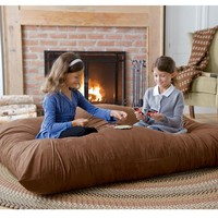 Versatile Oversized Floor Pillow - Removeable Microfiber Cover