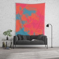 Pixelated Wall Tapestry by duckyb