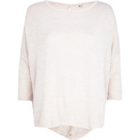 River Island Womens Light pink twist back top
