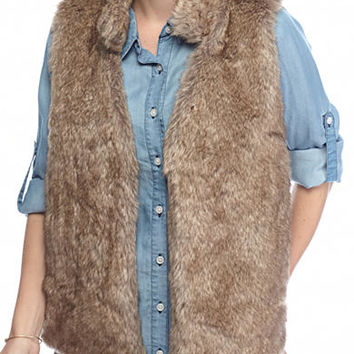 New Directions® Petite Size Faux Fur Sweater Vest