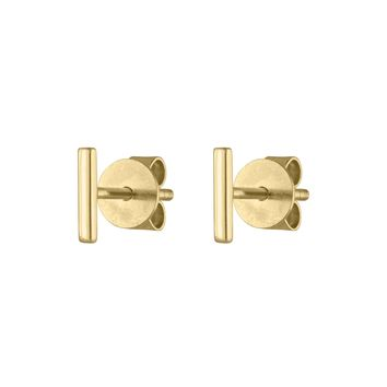 Little Bar Studs in 14k Gold