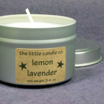 Lemon Lavender Soy Candle Tin - Hand Poured and Highly Scented Spring Container Candles