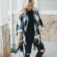 Buffalo Check Shawl Throws | Black and White or Red and White