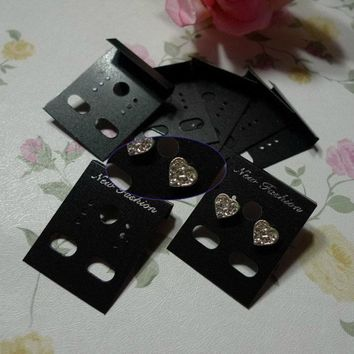 New Arrival Professional Plastic Earring Ear Studs Holder Display Hang Cards Black