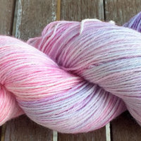 Hand Dyed Yarn - Purple Rainbow - Superwash Merino Wool, 4 ply Fingering/Sock Weight Yarn 100gr