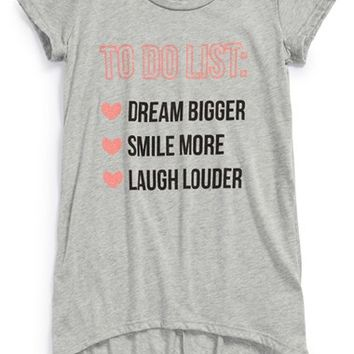 Girl's Ten Sixty Sherman 'To Do' High/Low Graphic Tee