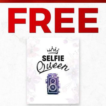Christmas 2018 Free POSTER038 Crown Selfie Queen Gift With Purchase