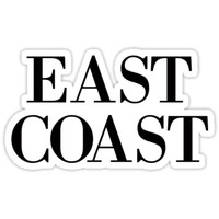 'East Coast' Sticker by baileymincer