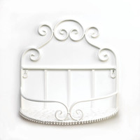 White Scrollwork Wall Shelve