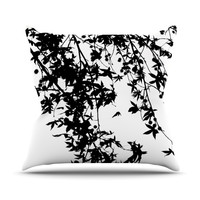"Ingrid Beddoes ""Black on White"" Throw Pillow, 16"" x 16"" - Outlet Item"