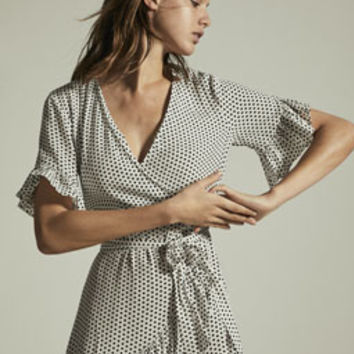Short dress with a mini polka dot print - Best Sellers - NEW IN | Oysho United Kingdom