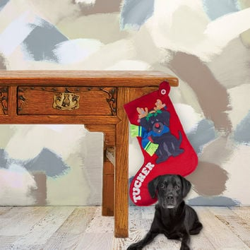 Dog Christmas Stockings, Personalized Christmas Stockings, Christmas Stocking for Dog, Family Stockings, One of a Kind