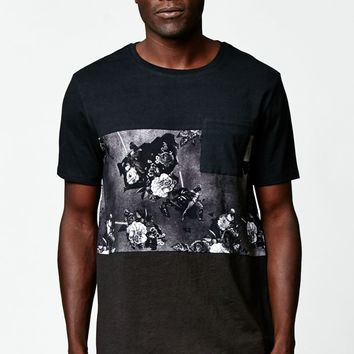 On The Byas - Disney Star Wars Darth Vader Floral Pocket T-Shirt - Mens Tee - White