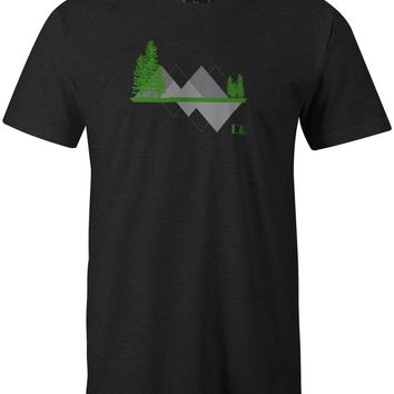 Triangles T-Shirt Charcoal Heather