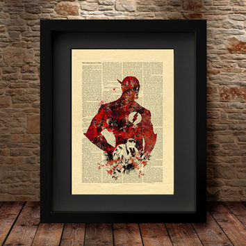 The Flash art, The Flash Poster, Vintage Silhouette print, Retro Hero, Avengers Art Print, Superhero poster, Marvel print, Wall art - 77