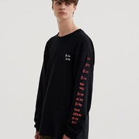 Lazy Oaf Blah Blah Long Sleeve T-Shirt - Everything - Categories - Mens