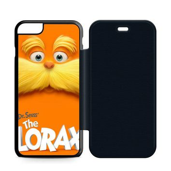 Dr Seuss Lorax Face Leather Wallet Flip Case iPhone 6 Plus | 6S Plus