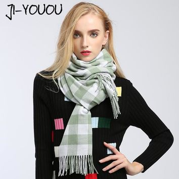 scarves women high fashion poncho winter scarf plaid pashmina ladies scarves designer silk poncho and capes wool crinkle hijab