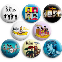 Hot iTem The Beatles Pinback Buttons Badge 1.25 inches (Set of 8) NEW EDITION