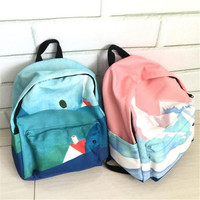 Landscape Embroidery Printing Backpack