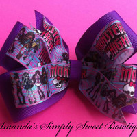 Monster High Layered Pinwheel Bow by AmandaNesser on Etsy