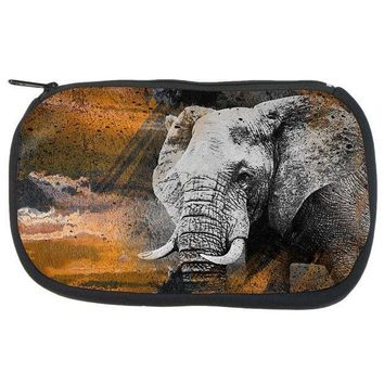 CREYCY8 Abstract Art Elephant Art Supplies Bag