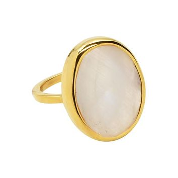 SALE - Large Oval Gold Bezel Ring