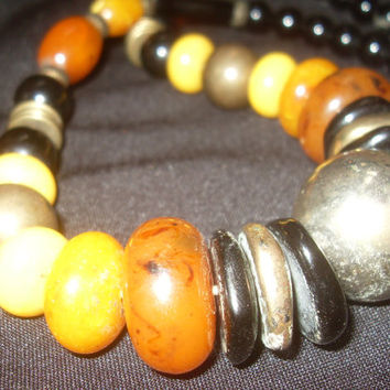 Fantastic Beaded Necklace includes Amber and just some lovely beads