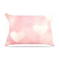 "Heidi Jennings ""Love is in the Air"" Pink Pillow Case"