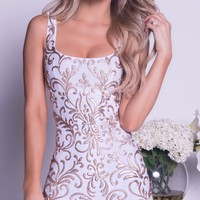 AMERICA DRESS IN WHITE WITH GOLD - 2 COLORS