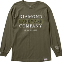 Diamond Hardware Stack Longsleeve Small Military Green
