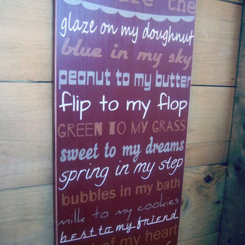 Extra Large Handmade, Hand Painted, Rustic/Primitive Wood Sign/You are the peanut to my butter/Wedding Sign/Wedding Gift/Anniversary/Love